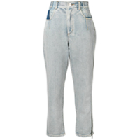 3.1 Phillip Lim Cropped Stripe Detail Jeans - Azul