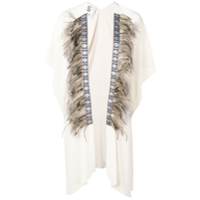 5 Progress Feather Trim Kaftan - Neutro