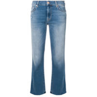 7 For All Mankind Calça Jeans Bootcut Cropped - Azul