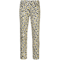 7 For All Mankind Calça Jeans Com Estampa Floral - Branco