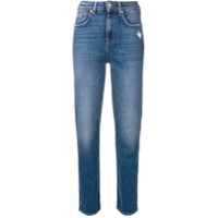 7 For All Mankind Calça Jeans De Cintura Alta - Azul