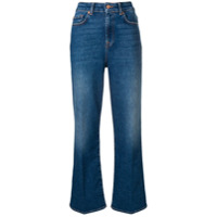 7 For All Mankind Calça Jeans Flare De Cintura Alta - Azul