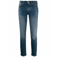 7 For All Mankind Calça Jeans Reta Com Cintura Baixa - Azul