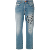 7 For All Mankind Calça Jeans Reta Com Estampa - Azul