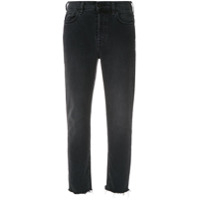 7 For All Mankind Calça Jeans Reta Desfiada - Preto