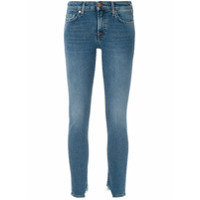 7 For All Mankind Calça Jeans Skinny Desfiada - Azul