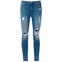 7 For All Mankind Calça Jeans Skinny Destroyed - Azul