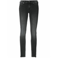 7 For All Mankind Calça Jeans Skinny Detalhe Lateral - Preto