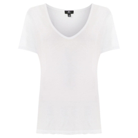 7 For All Mankind Camiseta Com Textura Canelada - Branco