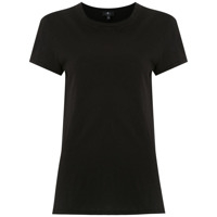 7 For All Mankind Camiseta Lisa - Preto