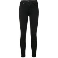 7 For All Mankind Skinny Cropped Jeans - Preto