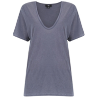 7 For All Mankind T-Shirt Decote V - Cinza