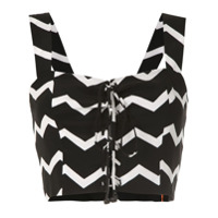 A.brand Top Cropped Chevron De Seda - Estampado