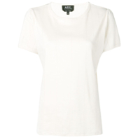 A.p.c. Basic Shortsleeved T-Shirt - Branco