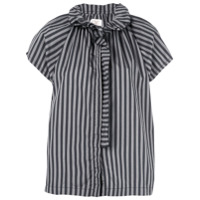 A Shirt Thing Striped Blouse - Preto
