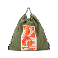 Acne Studios Gathered Fabric Tote - Verde