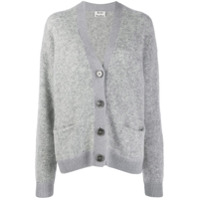 Acne Studios Grandpa Relaxed-Fit Cardigan - Cinza