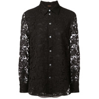 Adam Lippes Corded Lace Shirt - Preto