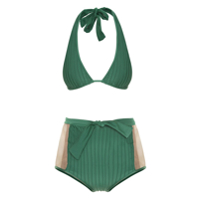Adriana Degreas Biquíni Hot Pants Tule - Verde