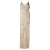 Aidan Mattox Beaded Cami-Gown - Neutro