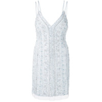 Aidan Mattox beaded cami mini dress - Azul