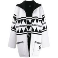 Alanui Cardigan Dupla Face 'crazy Monkey' - Branco