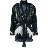 Alanui Belted Moon Star Cardigan - Azul