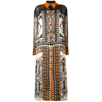 Alberta Ferretti Geometric Print Shirt Dress - Preto