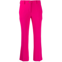 Alberto Biani Cropped Flared Trousers - Rosa