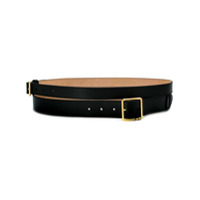 Alexander Mcqueen Double Buckle Belt - Preto