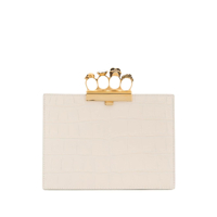Alexander Mcqueen Clutch Four-Ring - Branco