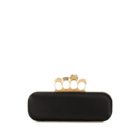 Alexander Mcqueen Four Ring Clutch - Preto
