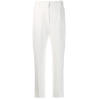 Alexander Mcqueen High-Waisted Cigarette Trousers - Branco