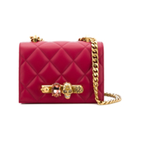 Alexander Mcqueen Jewelled Quilted Shoulder Bag - Vermelho