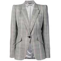 Alexander Mcqueen Prince Of Wales Tailored Jacket - Preto