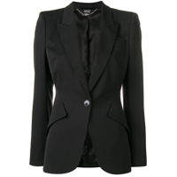 Alexander Mcqueen Single-Breasted Blazer - Preto
