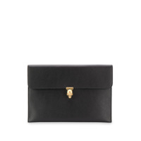Alexander Mcqueen Skull Closure Clutch Bag - Preto