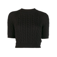 Alexander Wang Cable-Knit Sweater - Preto