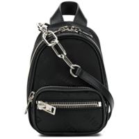 Alexander Wang Mini Zipped Backpack - Preto