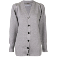 Alexander Wang Splittable Zip Shoulder Cardigan - Cinza