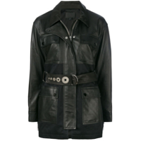 Alexander Wang Utility Jacket With Fringe Detail - Preto