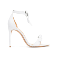 Alexandre Birman Knotted Leather High-Heeled Sandal - Branco