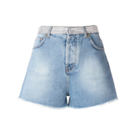 Alexandre Vauthier Crystal Studded Denim Shorts - Azul
