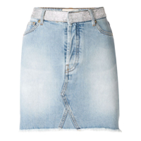Alexandre Vauthier Crystal Studded Denim Skirt - Azul