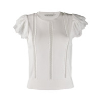 Alice+Olivia Rosio Lace Detail Top - Branco
