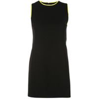 Alice+Olivia Vestido Colin Color Block - Preto