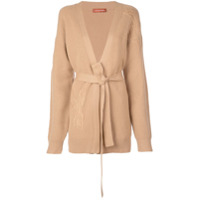 Altuzarra Embroidered Belted Cardigan - Marrom