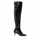 AMARO Feminino BOTA VERNIZ OVER THE KNEE, PRETO
