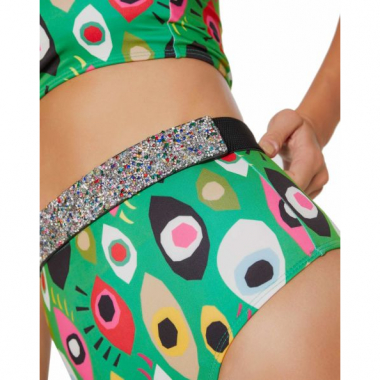 Amaro Feminino Hot Pants Estampada, Verde