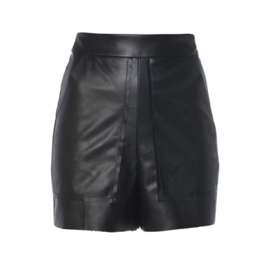 Amaro Feminino Short De Leather Bolsos, Preto